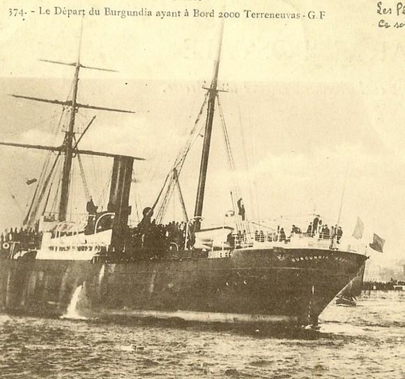 Le steamer ship Burgundia embarquait jusqu'à 2000 « banquiers » au départ de Saint-Malo