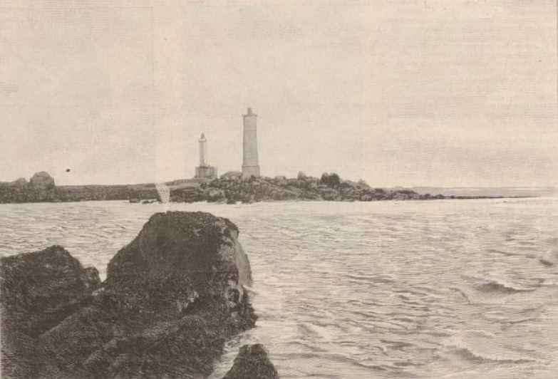 1899 le nouveau phare en construction s'élève à 45m