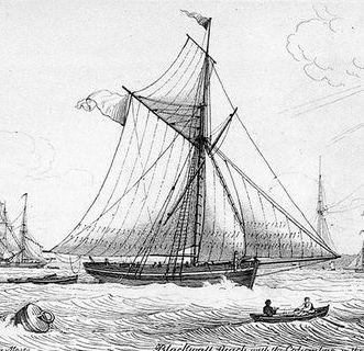 Le cotre des douanes devait ressembler à celui-ci d'une gravure anglaise du début du XIXème