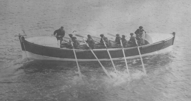 Sortie d'entrainement du canot de sauvetage de Roscoff, Philippes de Kerhallet.