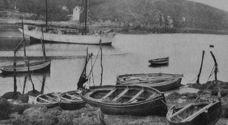 Mouillage du Yaudet en rivière de Lannion vers 1910