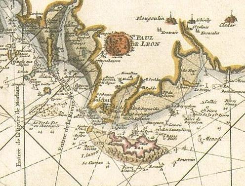 Extrait de la carte marine française de Denis de la Voye 1693