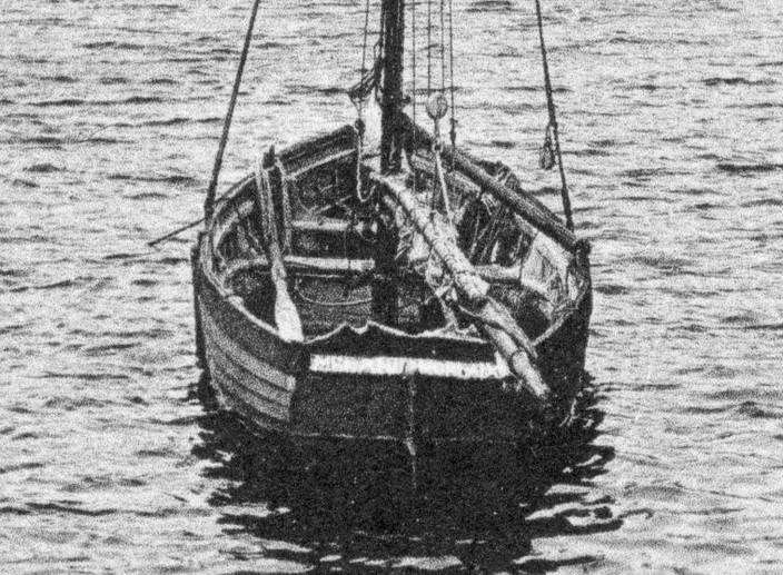 La Santez Anna construite à clin était certainement proche de ce sloup dans le port de Roscoff (coll. perso.)