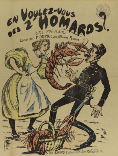 L'illustrateur ne connait que les homards cuits et les dessine en rouge !