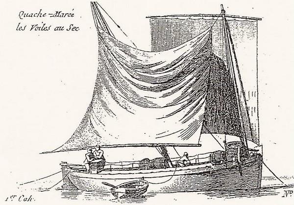 Chasse-marée au mouillage gravure de Pierre Ozanne vers 1790