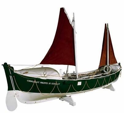 Le canot de sauvetage Commandant Philippes de Kerhallet est conservé, aujourd'hui suite à sa restauration dans son état d'origine au musée de la marine de Port-Louis