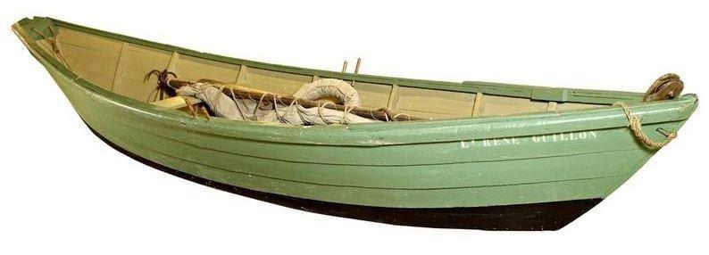 Doris des bancs, d'un des derniers terre-neuviers de Saint Malo, le lieutenant René Guillon (Coll. Musée de la pêche de Concarneau)