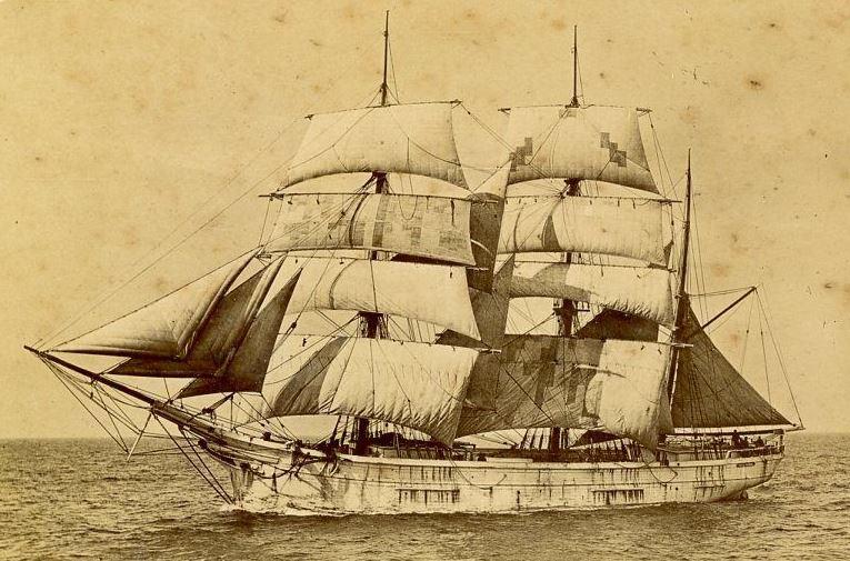 Petit trois-mâts barque en bois arrivant au Havre vers 1890, le  Franz Covacevitch pouvait être semblable