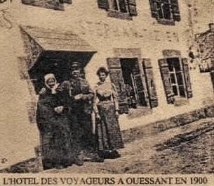 Jean-Louis Miniou en compagnie de la Veuve Stéphan née Amélie Silvie Tizien c'est la mère de mon arrière grand-mère