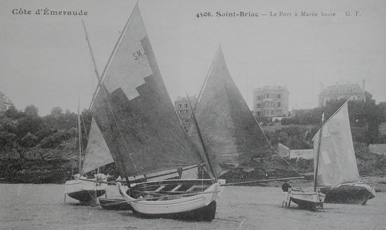 Canots du quartier de Dinan, pratiquants la pêche au maquereau