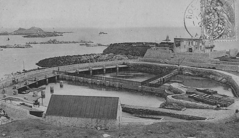 Le grand vivier de Roscoff vers 1910
