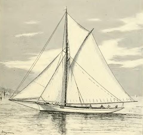 La Gallia, yacht de 20 tonneaux (gravure dans le Yacht de Philippe Daryl)