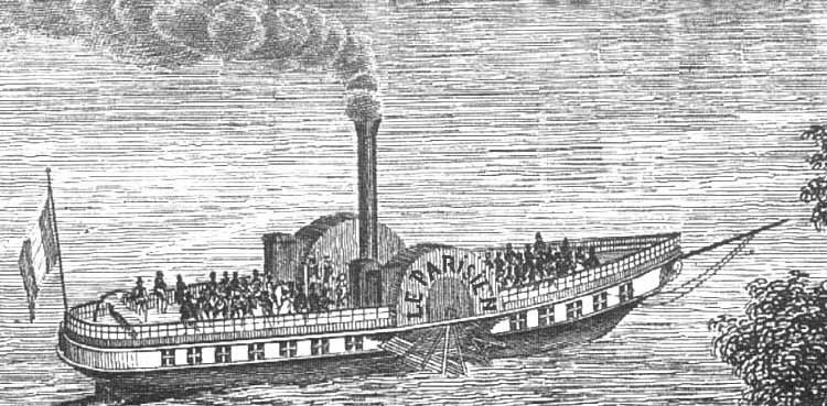 Cette gravure représente certainement le « Parisien II », de tonnage plus important que le « Parisien »