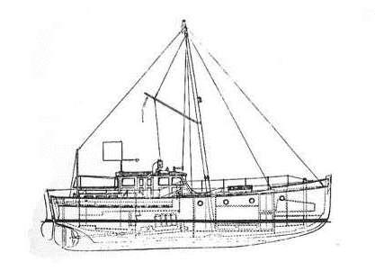 Arielle est une vedette construite par le chantier Jouët de Sartrouville équipée d'un moteur Baudoin de 60 cv, sa traversée de l'Atlantique dura 20 jours