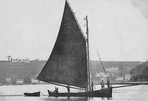 Cette gabare de Morlaix, avec son équipage de 5 hommes est plus grande que les autres gabares de la flottille de Morlaix et de Penzé