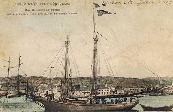 Les petites goélettes Saint-Pierraise d'ancienne goélettes canadiennes ou des côtes du Maine déclassée