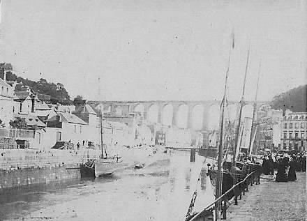 Le port de Morlaix vers 1880 1890, le vapeur le long du quai est certainement le Morlaix