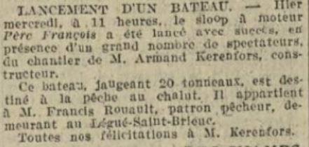 La dépêche de Brest du 06 juin 1929
