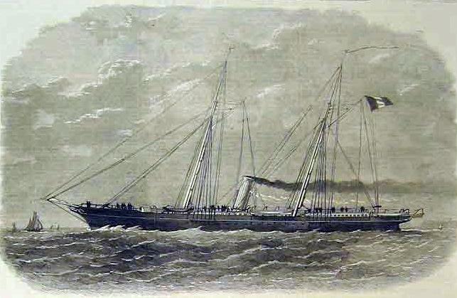 L'aviso à vapeur Jérôme Napoléon, yacht impérial de 1866 à 1870