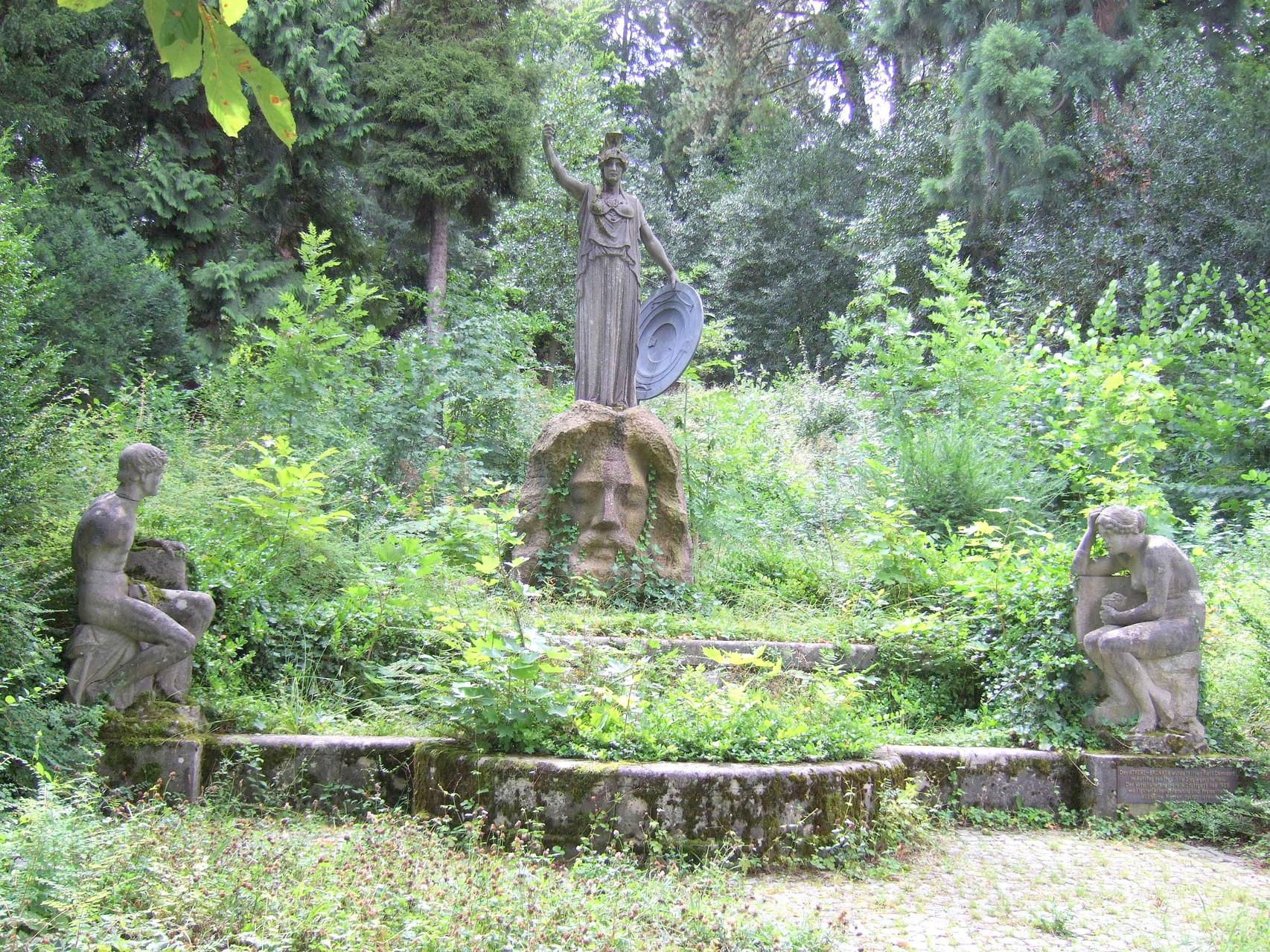 Pallas Athene-Brunnen, Karlshöhe (Geschichte: Unterwegs auf dem Hügel der Millionäre...)