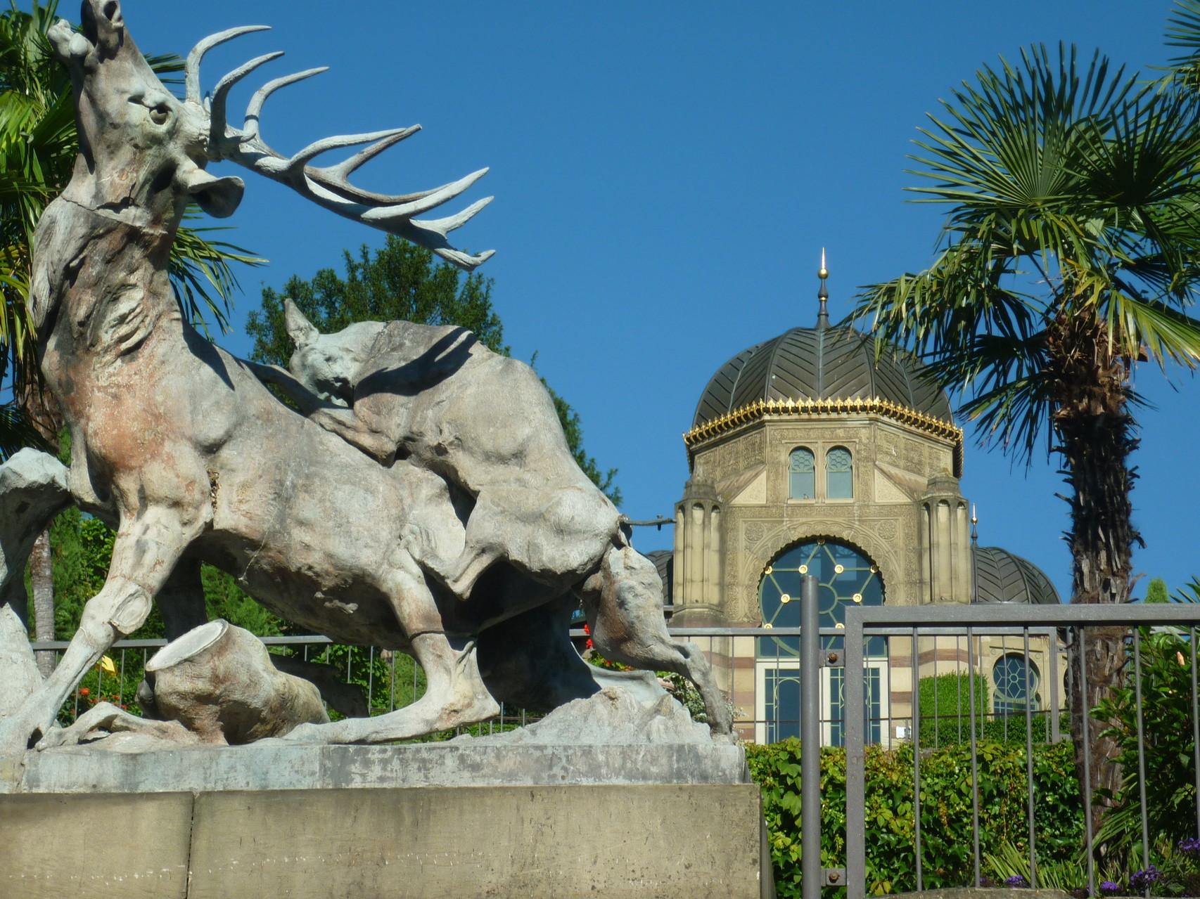 Wilhelma, Bellevue (Geschichte: Vom Affenwerner zum Amazonashaus / kleine Geschichte der Stuttgarter Tiergärten)