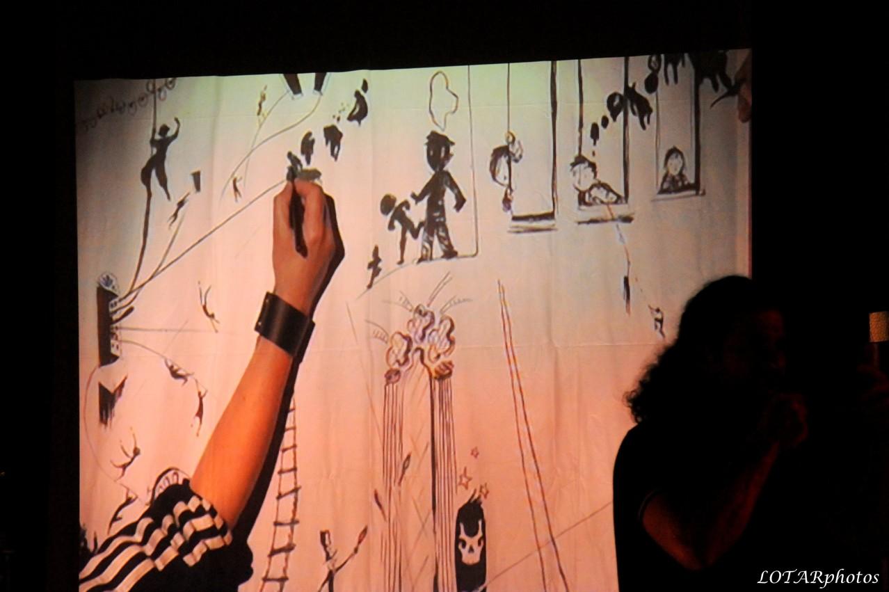 Performance dessin en direct...et en musique !