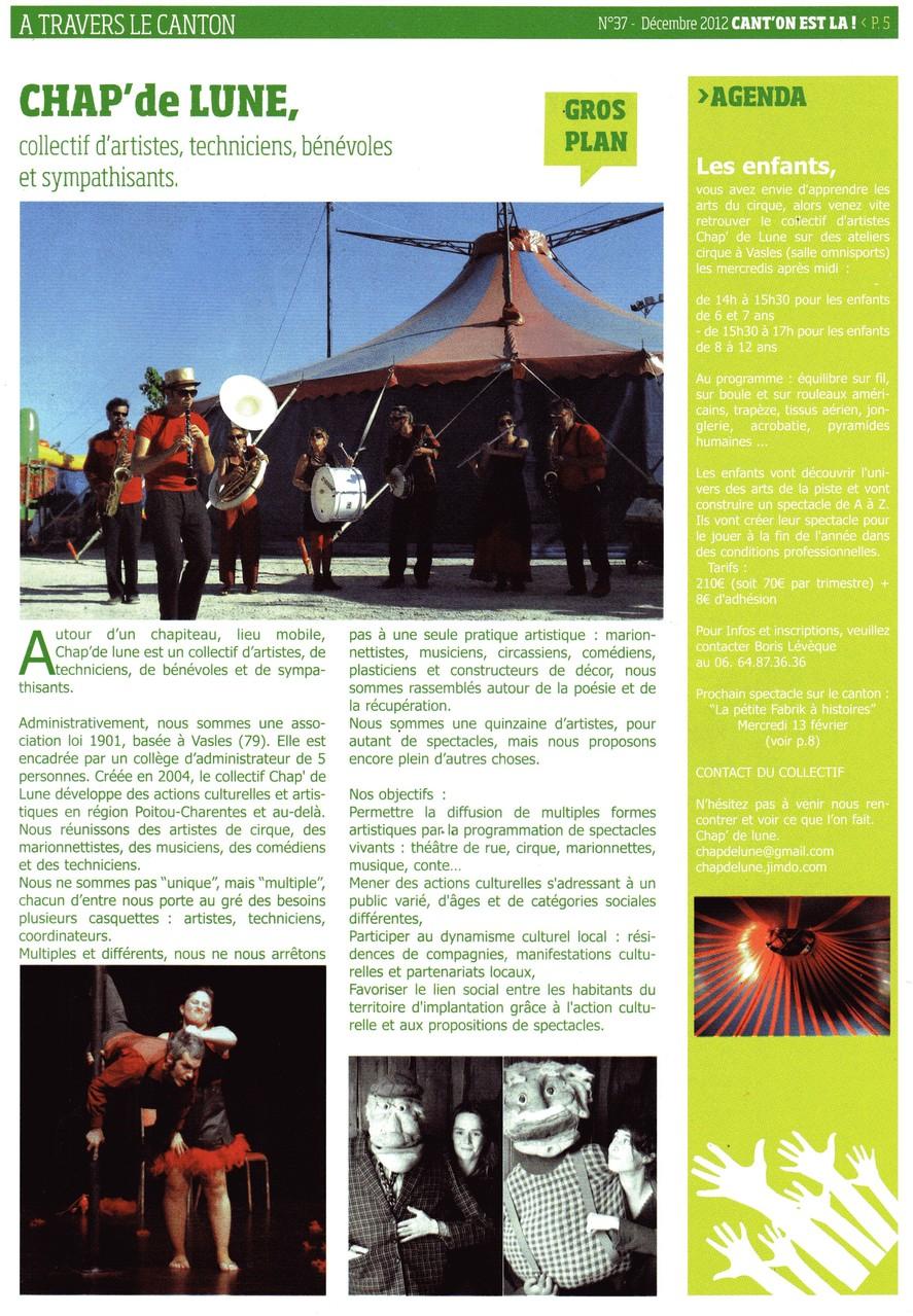 Chapiteau et Cabaret Cirque à Vasles-2013-Canton'est là