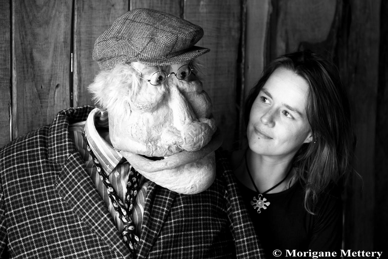Virginie Dumeix et Philibert, sa marionette