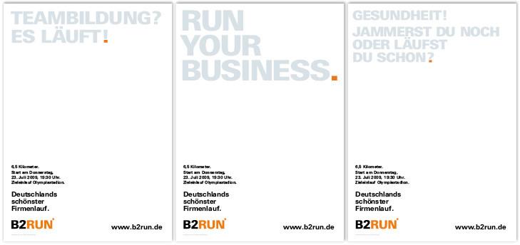 Auszug Plakatkampagne B2RUN