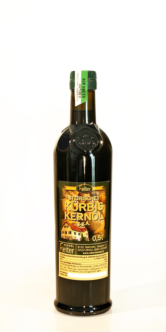 Steirisches Kürbiskernöl g.g.A. 0,5 l Flasche