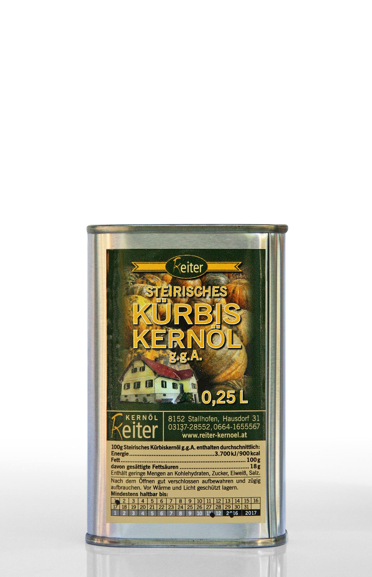 Steirisches Kürbiskernöl g.g.A. 0,25 l Dose
