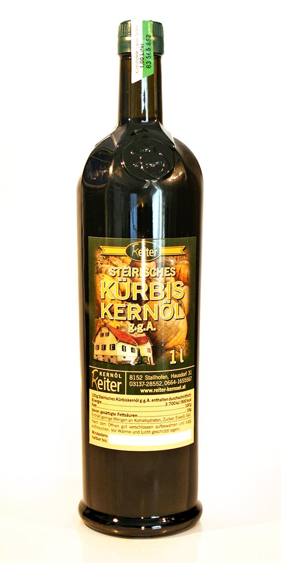 Steirisches Kürbiskernöl g.g.A. 1 l Flasche