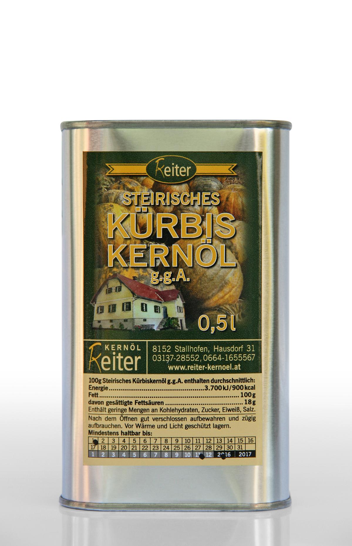 Steirisches Kürbiskernöl g.g.A. 0,5 l Dose