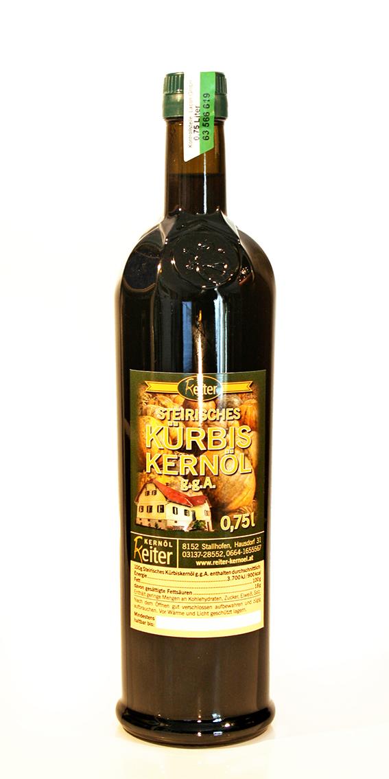 Steirisches Kürbiskernöl g.g.A. 0,75 l Flasche
