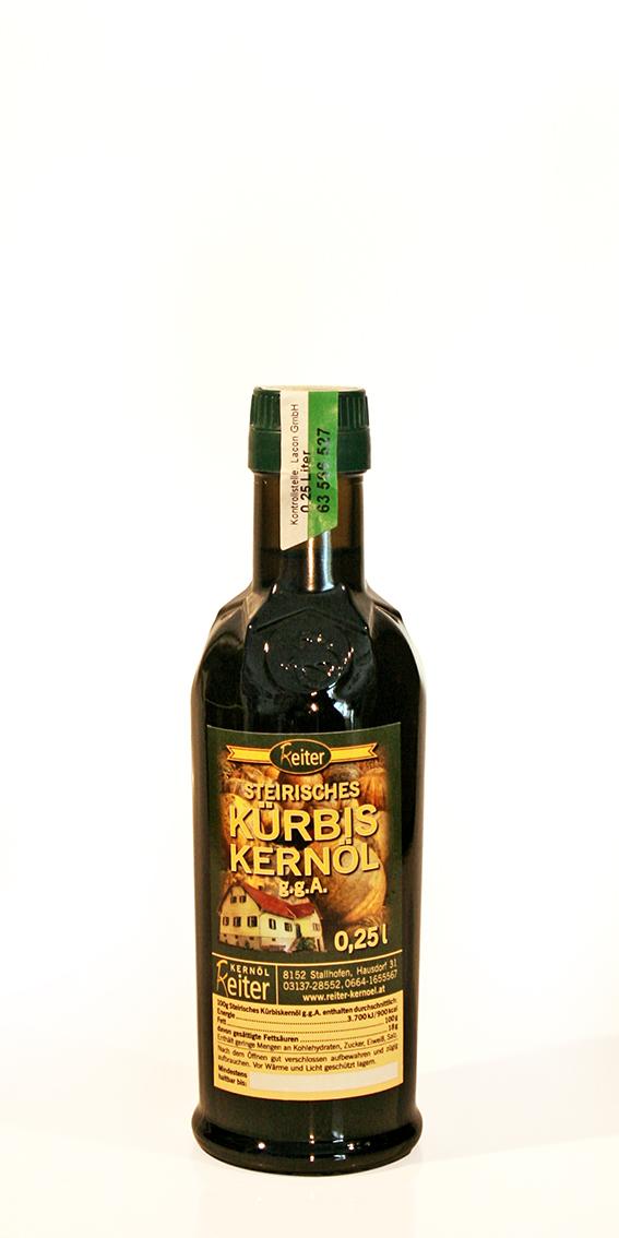 Steirisches Kürbiskernöl g.g.A. ß,25 l Flasche
