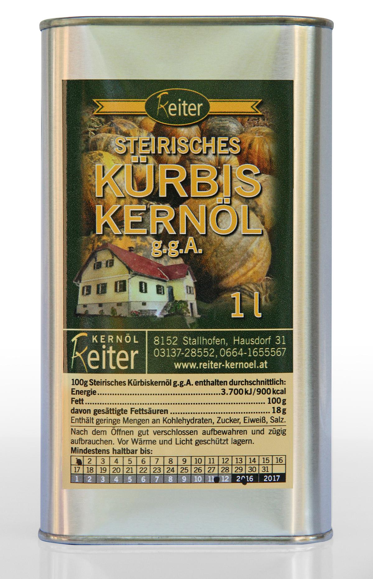 Steirisches Kürbiskernöl g.g.A. 1 l Dose