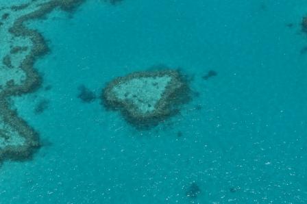 Heart Reef - Great Barrier Reef Australien (vom Hubschrauber aus fotografiert)
