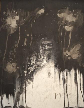 """""""Künstliche Intelligenz"""", Acryl auf Papier, 64x50 cm"""