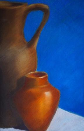 """""""Vasen"""", Pastellkreide auf Papier, 48x31,5 cm"""