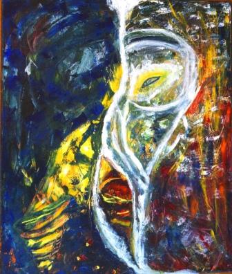 """""""Face to Face"""", Acryl auf Leinwand, 60x50 cm"""