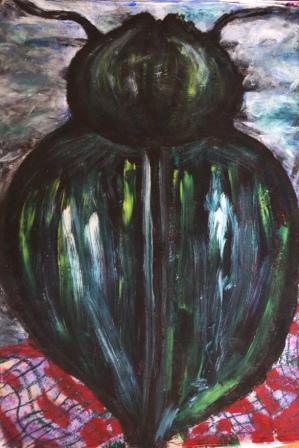 """Picnic"", Acryl+Ölkreide, 70x50 cm"
