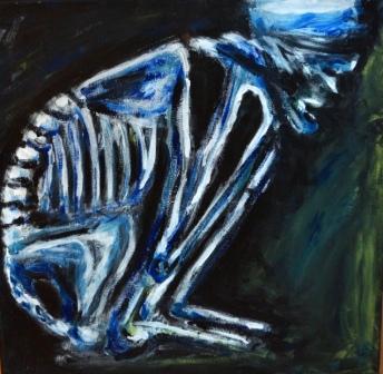 """""""Wartezeit"""", Acryl auf Leinwand, 56x56 cm"""
