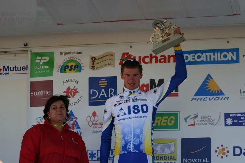 Indulis BEKMANIS (ISD Continental) vainqueur Classement  Sprints Volants Trophée Mutuelle de la Somme (Photo Pascal LINGET Photos-cyclisme-pro)
