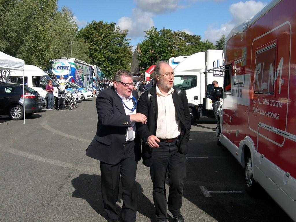 Le président LOUVET et Jean Pierre TETU conseiller général (Photo GF/PSP)