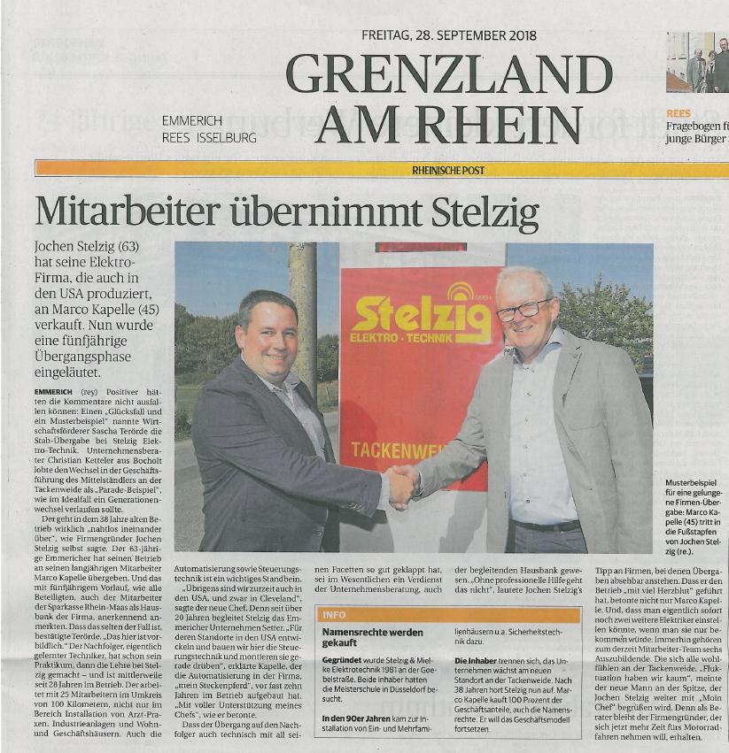 Quelle: © Rheinische Post, Ausgabe 28. September 2018