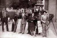 Redina Pietro con colleghi dell'epoca Roma 1950