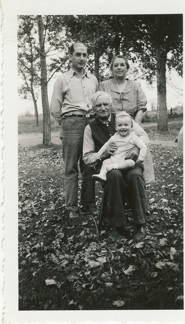 Arthur S Wheater, mother Sadie May McClellan Wheater, grandfather Wellington D Wheater and son William H Wheater group A