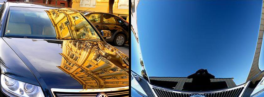 Эффект от полировки автомобиля
