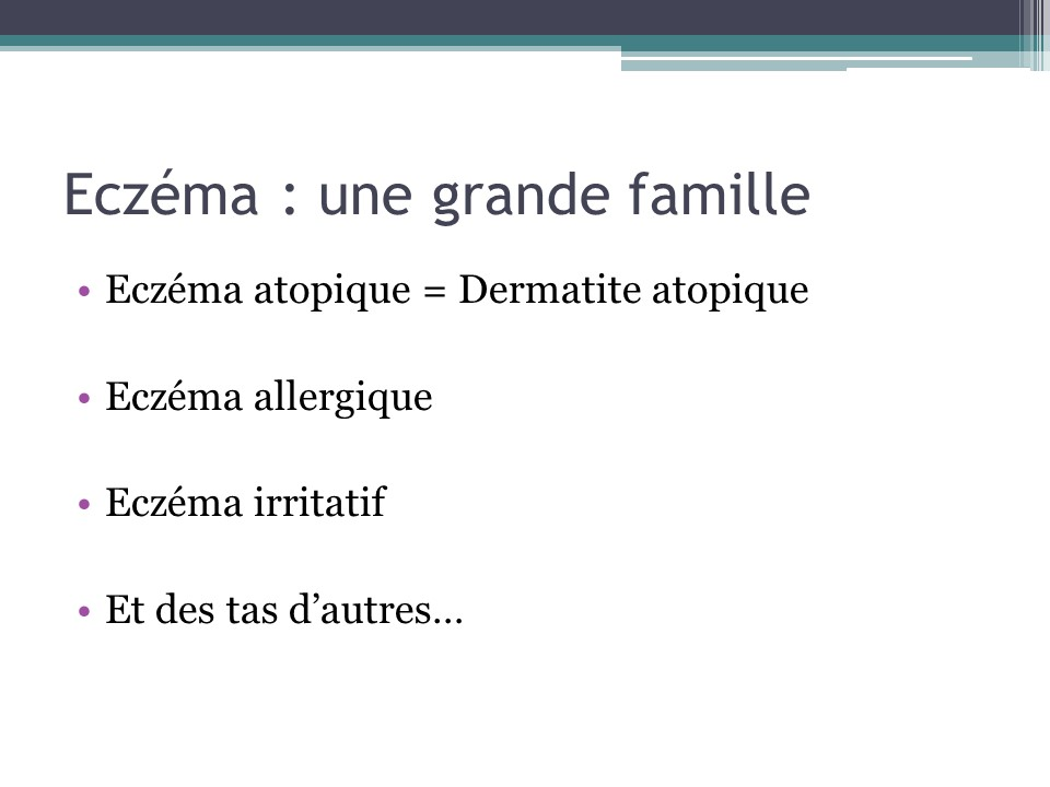 formation eczema etudiants en pharmacie