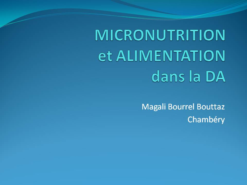 micro nutrition et eczema